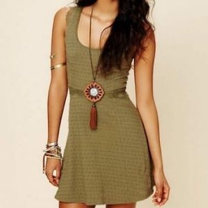 • {Free People} Army Green Lace Mini